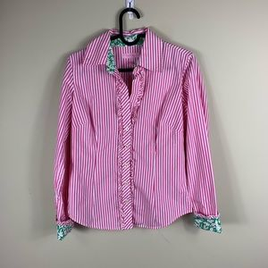 Lilly Pulitzer pinstripe Button down